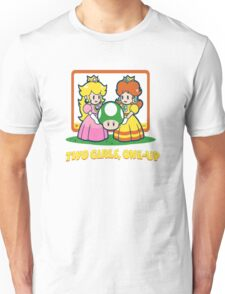 Mario Bros. Two Girls, One Up  Unisex T-Shirt