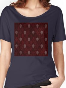 Victorian Skulls Red Women's Relaxed Fit T-Shirt