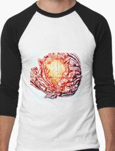 Califlower print (red version) Men's Baseball ¾ T-Shirt