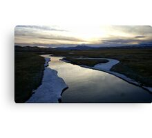 Sunset River Reflections Canvas Print