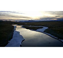 Sunset River Reflections Photographic Print