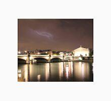 Paris & River Seine by night - the sky was alight  Unisex T-Shirt