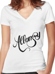 Allons-y - Doctor Who Women's Fitted V-Neck T-Shirt