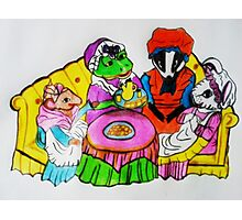 MRS.  FROGS TEA PARTY Photographic Print
