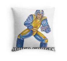 Bad Box Art Mega Man Throw Pillow
