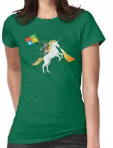 Ninja Cat Unicorn Womens Fitted T-Shirt