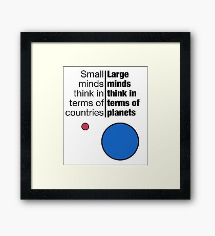 Small Minds and Large Minds Framed Print