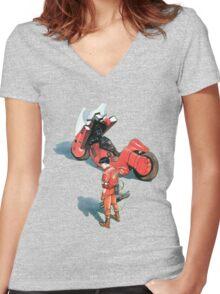 Kaneda Women's Fitted V-Neck T-Shirt