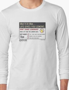 When Life Gives You Lemons - Apeture Science Long Sleeve T-Shirt