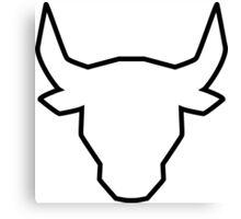 polygonal bull Canvas Print