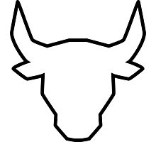 polygonal bull Photographic Print