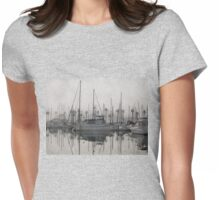 Fog in the marina Womens Fitted T-Shirt