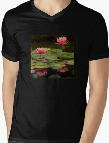 Impressions of pink lilies Mens V-Neck T-Shirt