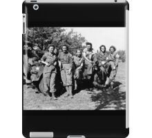 WWII Army Nurses in Fatigues Posing with Trucks iPad Case/Skin