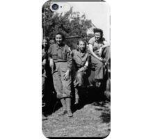WWII Army Nurses in Fatigues Posing with Trucks iPhone Case/Skin