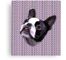 Boston Terrier - GOOOOO BOSTON Canvas Print