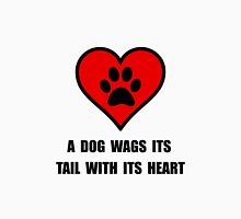 Dog Wag Heart Unisex T-Shirt