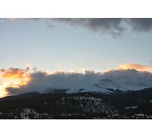 Cloudy Peak Sunrise #2 Photographic Print