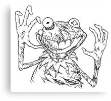 Zombie the Frog Canvas Print
