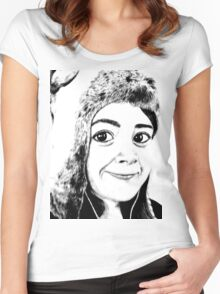 Girl portrait Women's Fitted Scoop T-Shirt