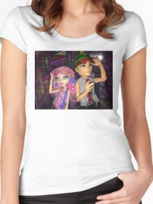 Monster High+Deuce+Viperine Women's Fitted Scoop T-Shirt