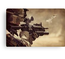 Gunshot Canvas Print