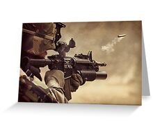 Gunshot Greeting Card