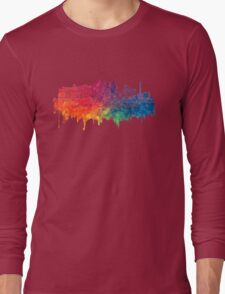 Las Vegas skyline city color Long Sleeve T-Shirt