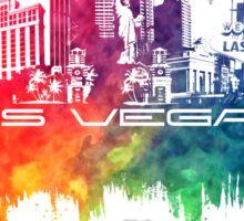 Las Vegas skyline city color Sticker