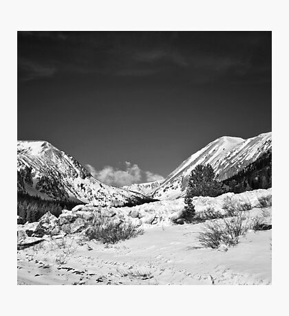 Mt. Quandary in Black and White Photographic Print