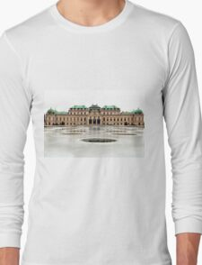 The Belvedere Palace in Vienna Long Sleeve T-Shirt