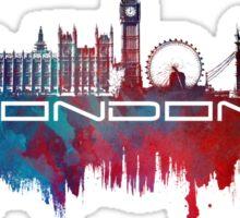 London skyline city blue  Sticker