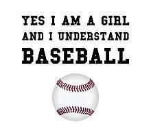 Girl Baseball Photographic Print