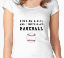 Girl Baseball Women's Fitted Scoop T-Shirt
