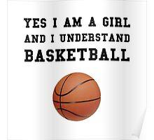 Girl Basketball Poster