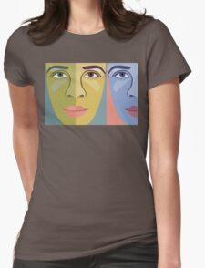 FACES #9 Womens Fitted T-Shirt