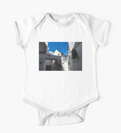 Whitewashed Mediterranean Courtyard - a Charming Traditional Home on Capri Island, Italy One Piece - Short Sleeve