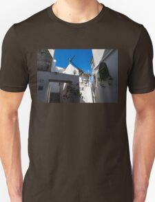 Whitewashed Mediterranean Courtyard - a Charming Traditional Home on Capri Island, Italy Unisex T-Shirt