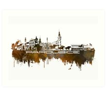 Pardubice skyline city brown Art Print