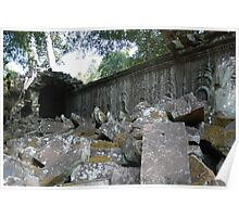 Fallen Building, Siem Reap, Cambodia Poster