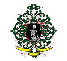 One Armed Skeleton Coat of Arms Photographic Print