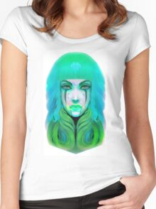 Turquoise Sky Women's Fitted Scoop T-Shirt