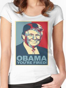 Trump 2016 Obama You're Fired! Donald Trump Women's Fitted Scoop T-Shirt