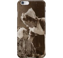 Nurse with Bandaged Boy WWII iPhone Case/Skin