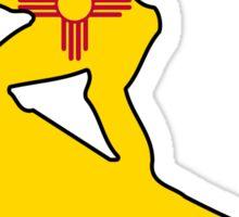 New Mexico flag surfer Sticker