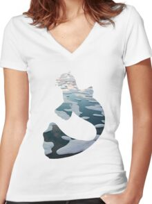 Dewgong used brine Women's Fitted V-Neck T-Shirt