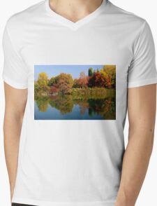 Colored reflections Mens V-Neck T-Shirt