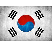 Korean flag Photographic Print