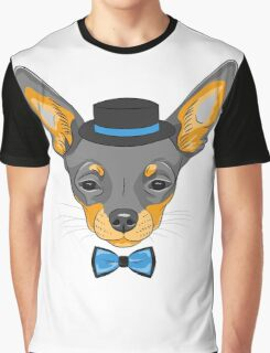 Hipster cute dog Chihuahua Graphic T-Shirt