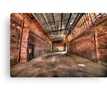 Factory collapse Canvas Print